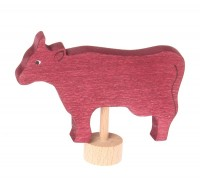 Decorative Figure Cow, red